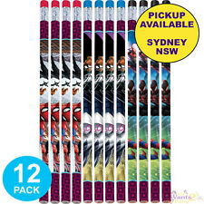 SPIDERMAN PARTY SUPPLIES 12 PENCILS LOOT FAVOURS BIRTHDAY GAME PRIZES SUPERHERO