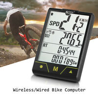 BOGEER Bike Computer Wireless / Wired Bicycle Speedometer Odometer F8C7