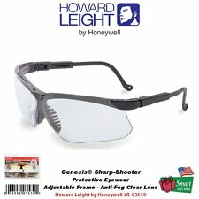 Howard Leight Genesis Shooting Glasses, Clear Anti-Fog Lens #R-03570