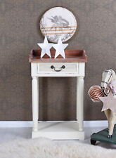 Table Console Country Style Console Night Table Night Console White Wood Console