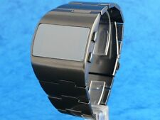 ASYMMETRIC Large and Chunky Vintage 1970s Style LED LCD DIGITAL Retro watch gun
