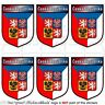 """CZECH REPUBLIC Shield 40mm (1.6"""") Mobile Cell Phone Mini Stickers, Decals x6"""