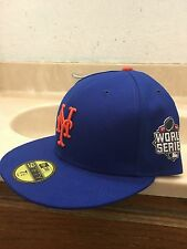 New York Mets New Era 59FIFTY MLB World Series Patch Fitted Cap Hat - Size 7 1/2