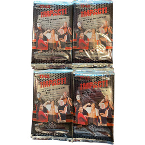 Lot of 48 Sealed 2008 Tristar TNA Impact! Inaugural Edition Wrestling Packs-New