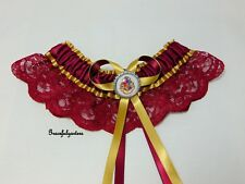 Harry Potter Hogwarts Lace bridal wedding garter. deathly hallows