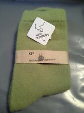 WOMENS     100%  ANGORA RABBIT  WOOL  SOCKS     SUPERSOFT     GREEN         NWT