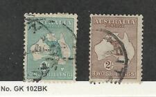 Australia, Postage Stamp, #51-52 Used, 1916 Kangaroo