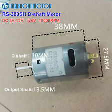 Mabuchi RS-380SH D-shaft Motor High Speed DC 3V~12V 6V 10000RPM DIY Toy Model