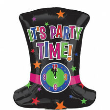 Party Time Year Anagram Foil Balloon Top Hat Birthday Celebration Decoration