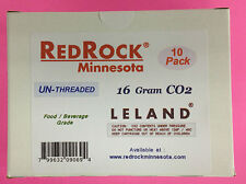 (20) Leland 16 gram Unthreaded CO2 &   beer keg chargers 2 boxes of 10 each