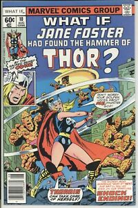 WHAT IF? 10  VF+ GRADE FIRST APPEARANCE JANE FOSTER AS THOR (THORDIS)  1978