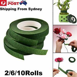 2-10 Rolls Paper Florist Eco Floral Tape Wedding Bouquet Stem Wrap Supplies DIY