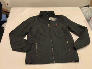 NWT $149.99 Polo Ralph Lauren Mens Retford Windbreaker Jacket Black Sz SMALL