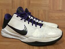 RARE!🔥 Nike Zoom Kobe V 5 Inline White Black Varsity Purple Sz 12 386429-101