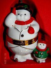 Lenox Snowman Box Christmas Tree Ornament Hinged Trinket Box