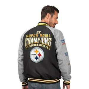 NFL Pittsburgh Steelers 6 time Super Bowl Champion Varsity Jacket - Size : XL
