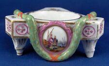 Antique 18thC Fuerstenberg Porcelain Open Salt Dish Porzellan Saliere Salznapf