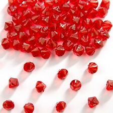 RED SMALL 9MM TABLE DIAMOND CONFETTI WEDDING / ANNIVERSARY / ENGAGEMENT