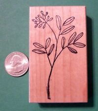 Fairy Flower Plant, Wood Mounted Rubber Stamp
