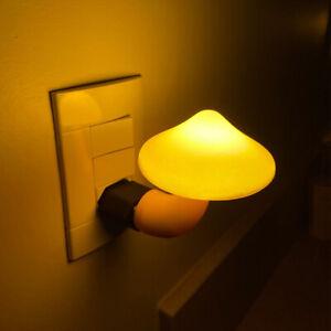 LED Night Light Bedroom Decoration Home Decor Wall Socket Sensor Bedside Lamp
