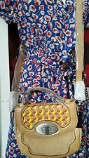 ♡BNWT MIMCO MUGHAL MINI SATCHEL BAG CAMEL LEATHER S / STEEL HARDWARE RRP $379.00