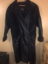 Wilson Vintage Leather Trench Coat Womens Size M
