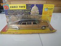 PC219 CORGI TOYS 1/43 LINCOLN CONTINENTAL EXECUTIVE LIMOUSINE 262 Original 1960'