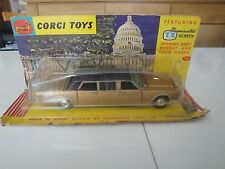 PC219 CORGI TOYS 1/43 LINCOLN CONTINENTAL EXECUTIVE LIMOUSINE 262 Original 1960'