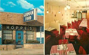 Dearborn Michigan Hoppe's Restaurant roadside interior Postcard Thurn 21-1732