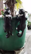 2 Katzen Kater Figur Katze Kletterkatze Klettert Lebensgroß Kunstharz Groß Deko