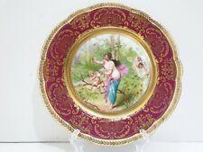 Antique Imperial China Austria Neo-Classical Scene Decorative Plate