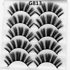 Skonhed 5 Pairs 3d Mink Hair False Eyelashes Thick Wispy Lashes Natural Cross G04