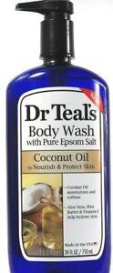 1 Count Dr. Teals Pure Epsom Salt Coconut Oil Nourish Protect Body Wash 24Fl oz
