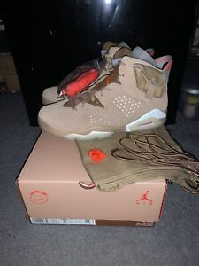 Nike Air Jordan Retro 6 Travis Scott British Khaki Men Size 9.5 In Hand! New!