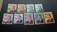 Marokko, Stamps, König Hassan + andere, Konvolut = 15 Marken