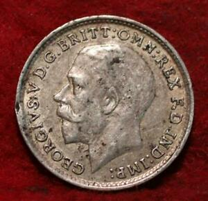 1918 Great Britain 3 Pence Silver Foreign Coin