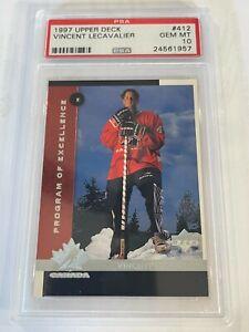 PSA 10 - VINCENT LECAVALIER Program of Excellence- Rookie - 1997 Upper Deck #412