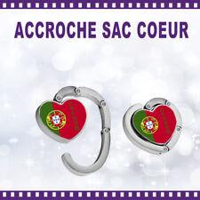 Accroche-sac coeur personnalisé PORTUGAL avec Prénom - St Valentin sac cadeau