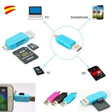 MICRO USB LECTOR TARJETAS MICRO SD- SD - USB 2.0 MICRO SD 2 EN 1 ADAPTADOR OTG