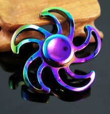 Rainbow Finger Spinner Toy Alloy Fidget Hand Gyro For Kids Adult Autism Gift  M3