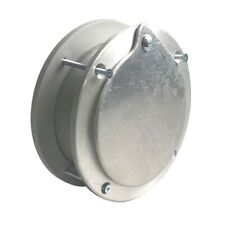 6 Inch  Aluminum Exhaust Port For Doors Up To 2 Inch Thick