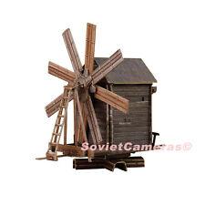 1/87 HO Scale Building Windmill Railway Railroad Scenery Cardboard Model Kit