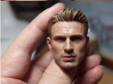 1/6 Scale Captain America Head Carving Chris Evans Male Head Sculpt F 12'' Body