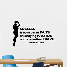 Stephen Curry Wall Decal Basketball Quote Gift Poster Vinyl Sticker Print 145bar