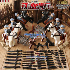 WW2 Germany Horse War Scenes with Mortar Fencing Wires Weapons fit Lego 6pcs
