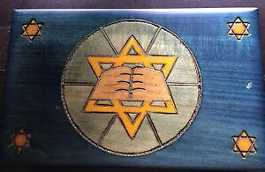 jewish items in decorated box