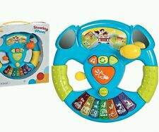 KIDS CHILDS TOY FUN STEERING WHEEL INFANT INTERACTIVE LITTLE DRIVER LIGHT SOUND