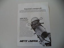 advertising Pubblicità 1982 MOTO LAVERDA 1000 RGS