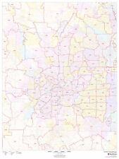 Forth Worth, Texas Zipcode Laminated Wall Map (MSH)
