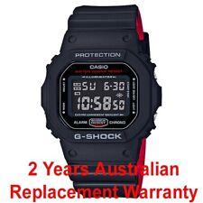 CASIO G-SHOCK MEN WATCH DW-5600HR-1 BLACK x RED DW-5600HR-1DR 2-YEARS WARRANTY
